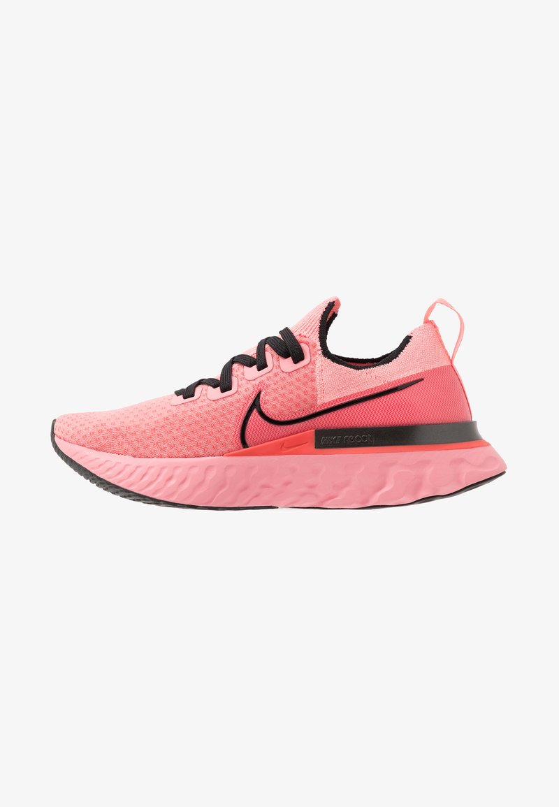 Nike Performance - EPIC PRO REACT FLYKNIT - Neutral running shoes - bright melon/black/ember glow