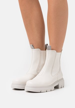 Platform ankle boots - ivory