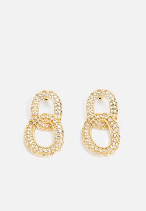 WIN PAVE OPEN DROPS - Earrings - gold-coloured