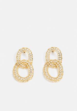 WIN PAVE OPEN DROPS - Boucles d'oreilles - gold-coloured