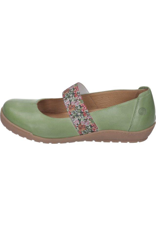 Ankle strap ballet pumps - grün