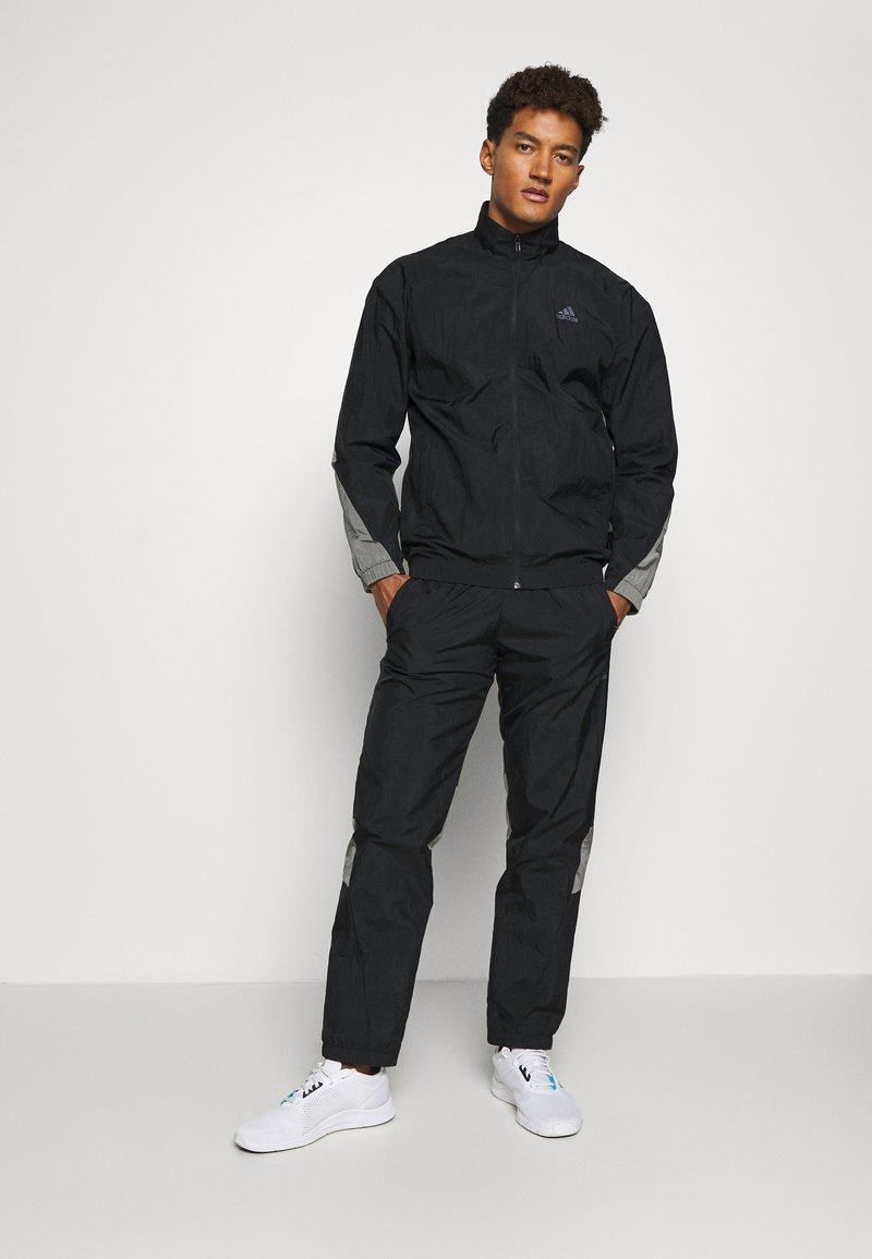 adidas Performance - METALLIC SET - Tracksuit - black