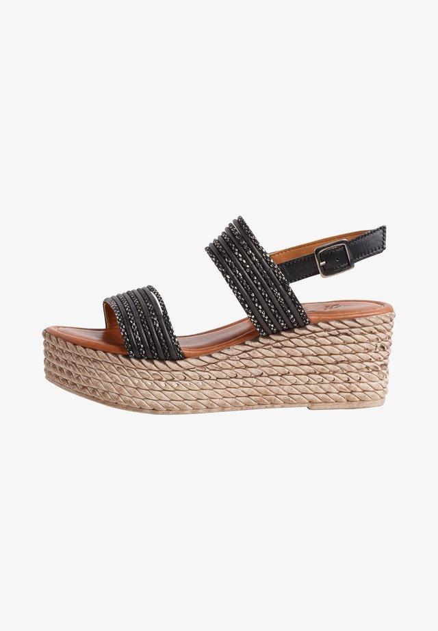 Platform sandals - black/anthra