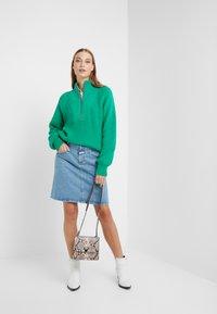 CLOSED - IBBIE - A-line skirt - mid blue - 1