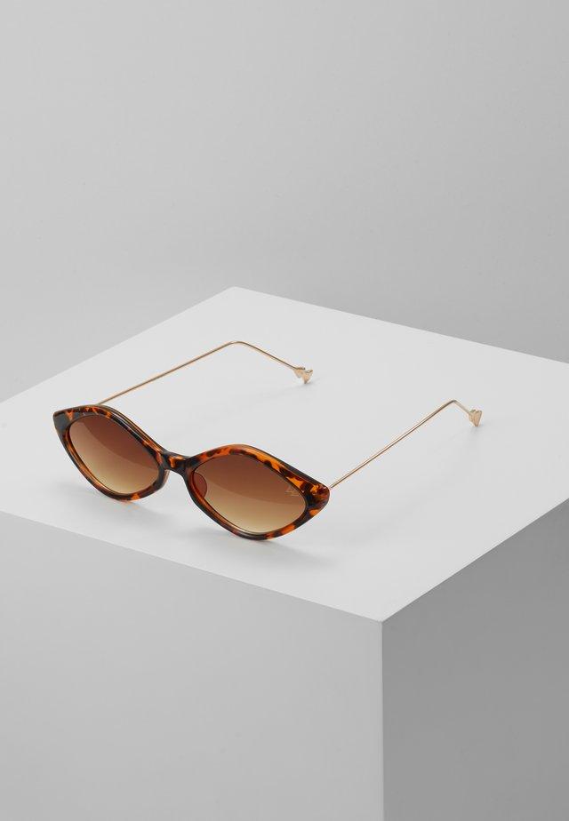 Gafas de sol - dark brown/gold coloured