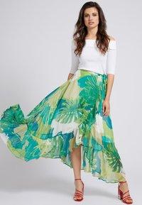 Guess - A-line skirt - mehrfarbig, grün - 1