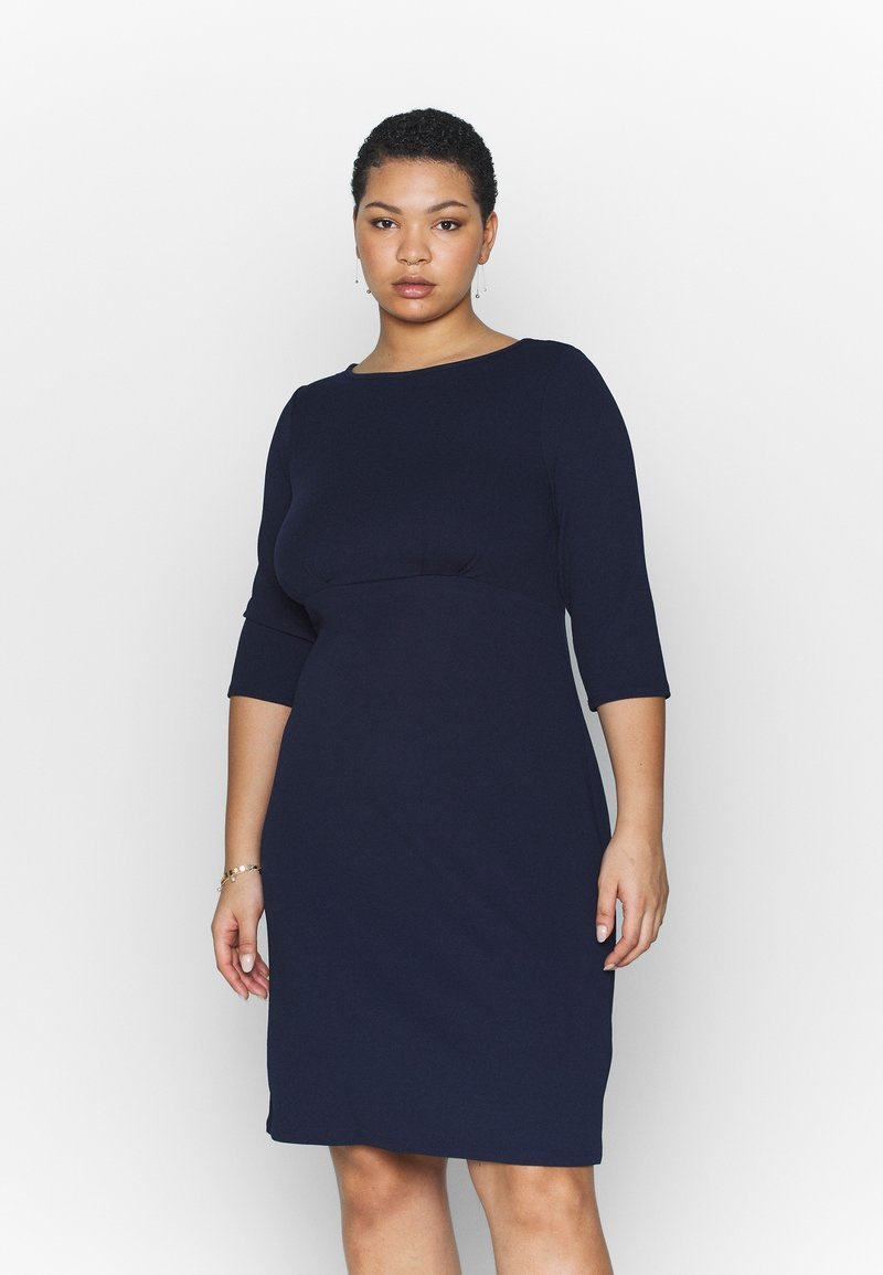 Dorothy Perkins Curve - EMPIRE WAIST BODY CON DRESS - Jersey dress - navy