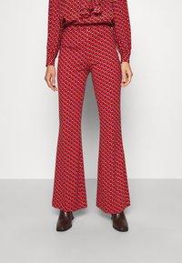 Diane von Furstenberg - BROOKLYN PANTS - Trousers - signature red - 0