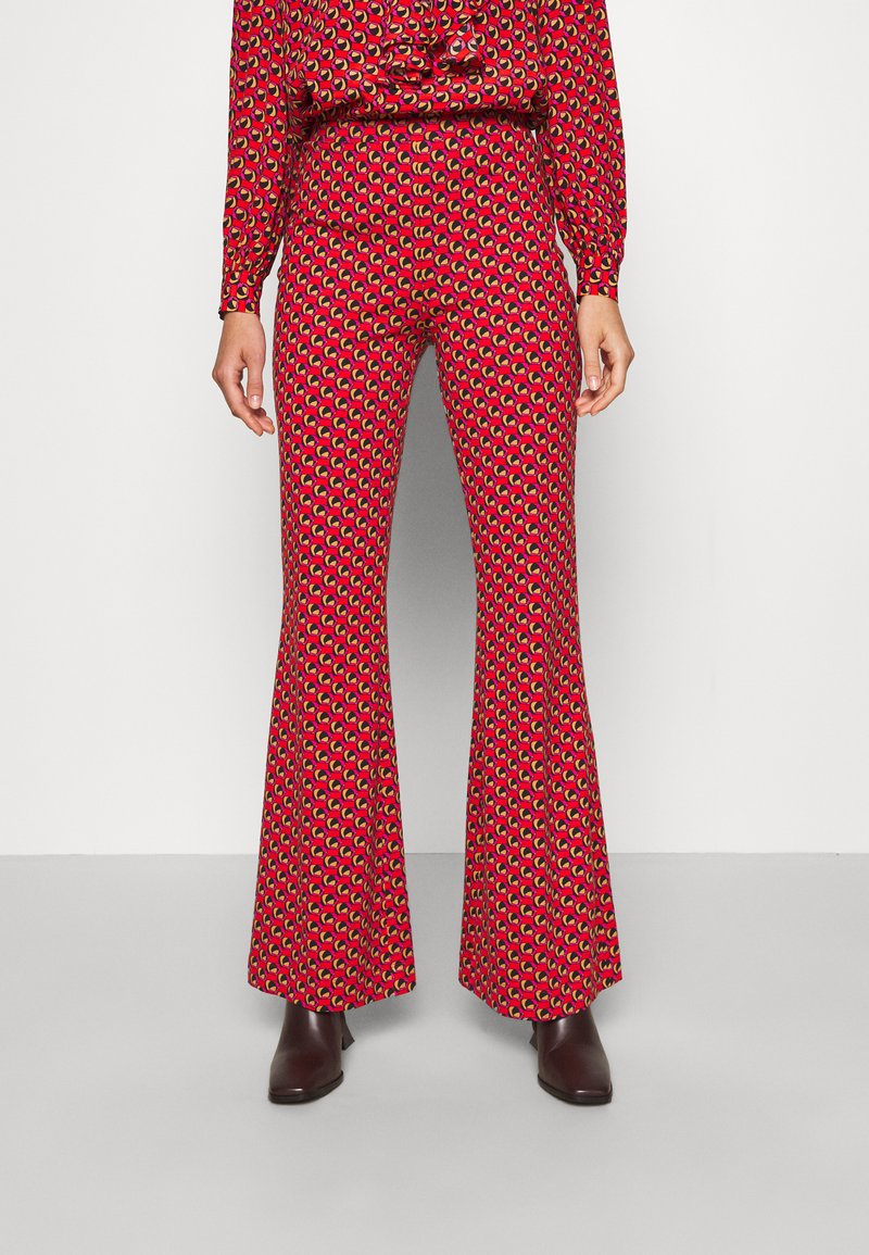 Diane von Furstenberg - BROOKLYN PANTS - Trousers - signature red
