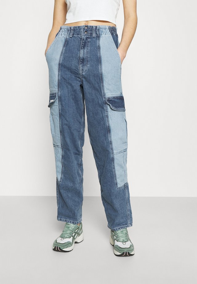 COLOR BLOCK BLAINE - Relaxed fit jeans - mid vintage