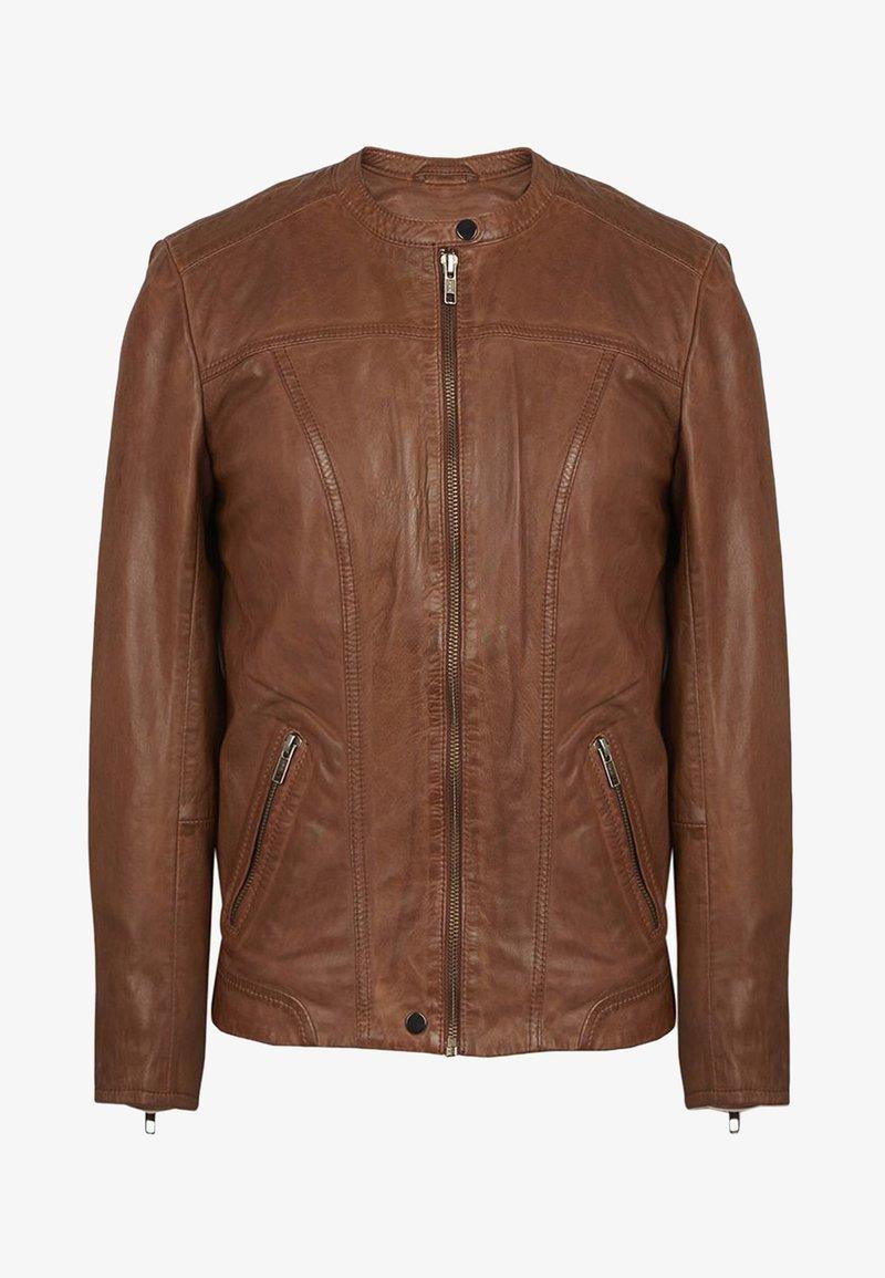NAF NAF - Veste en cuir - brown