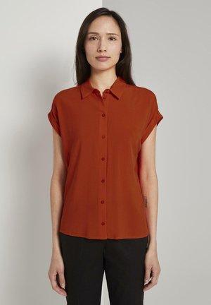 Overhemdblouse - strong flame orange