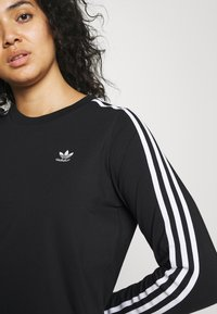 adidas Originals - 3-STRIPES ORIGINALS ADICOLOR LONG SLEEVE T-SHIRT - Long sleeved top - black - 5