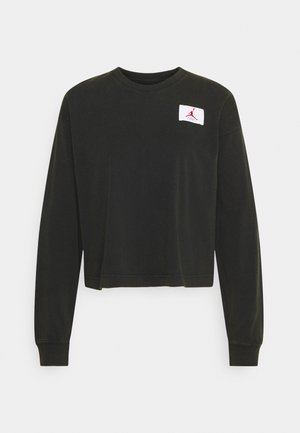 ESSENTIAL BOXY TEE - Long sleeved top - black