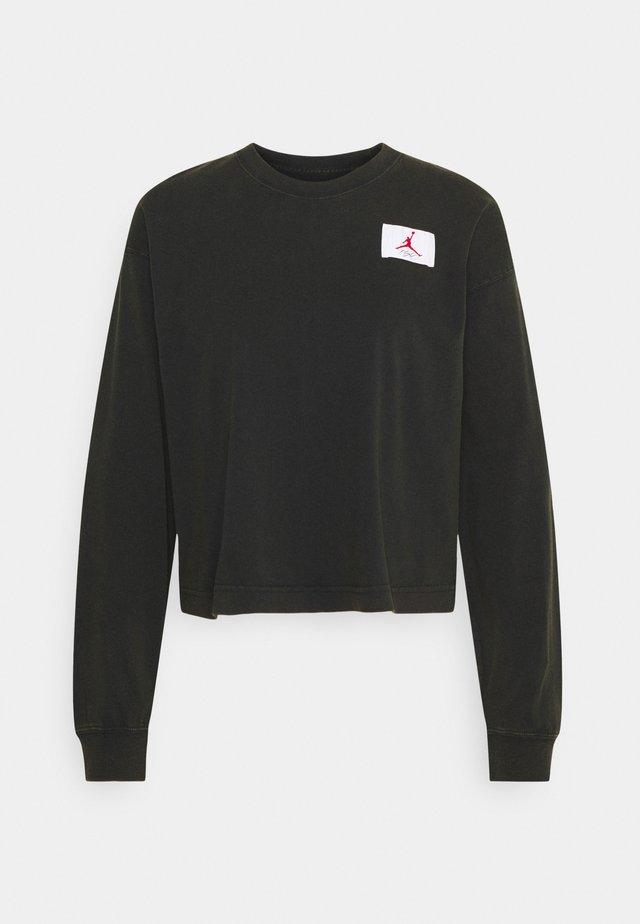 ESSENTIAL BOXY TEE - Top sdlouhým rukávem - black