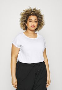 Simply Be - BOYFRIEND 2 PACK - Basic T-shirt - black/white - 1