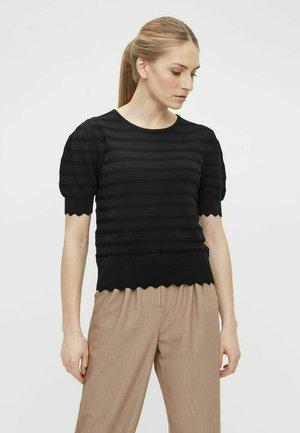 OBJSAVA - T-shirt basic - black