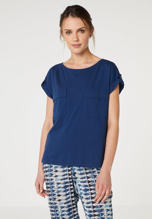 Jednoduché triko - azul marino