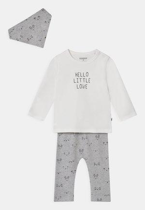 GESCHENKSET UNISEX - Legging - mottled grey/off-white