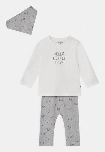 GESCHENKSET UNISEX - Leggings - Trousers - mottled grey/off-white