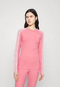 adidas Originals - LONG SLEEVE TEE - Long sleeved top - hazy rose/white - 0