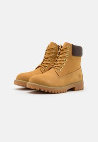 Lumberjack - RIVER - Lace-up ankle boots - yellow/dark brown - 1