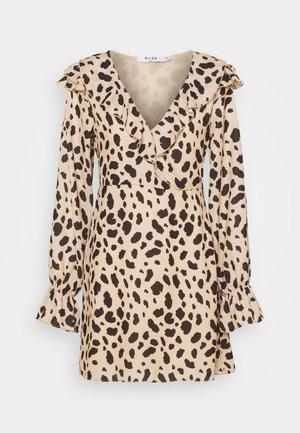 WRAPPED FRILL DRESS - Denní šaty - multi-coloured