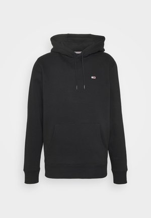 REGULAR FLEECE HOODIE - Luvtröja - black