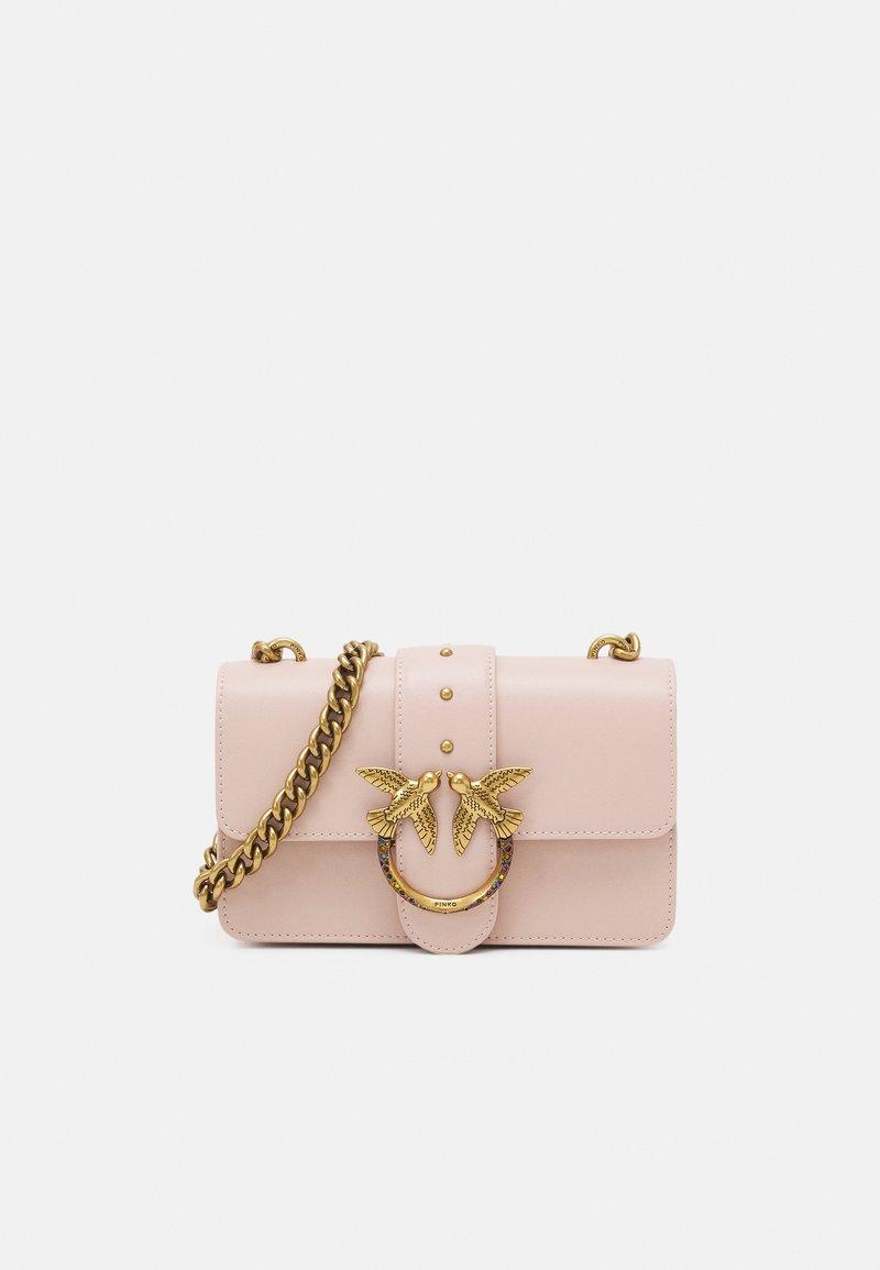 Pinko - LOVE MINI ICON JEWEL ANTIQUE - Across body bag - cipria