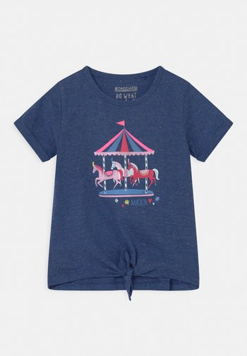 T-shirts print - deep blue melange