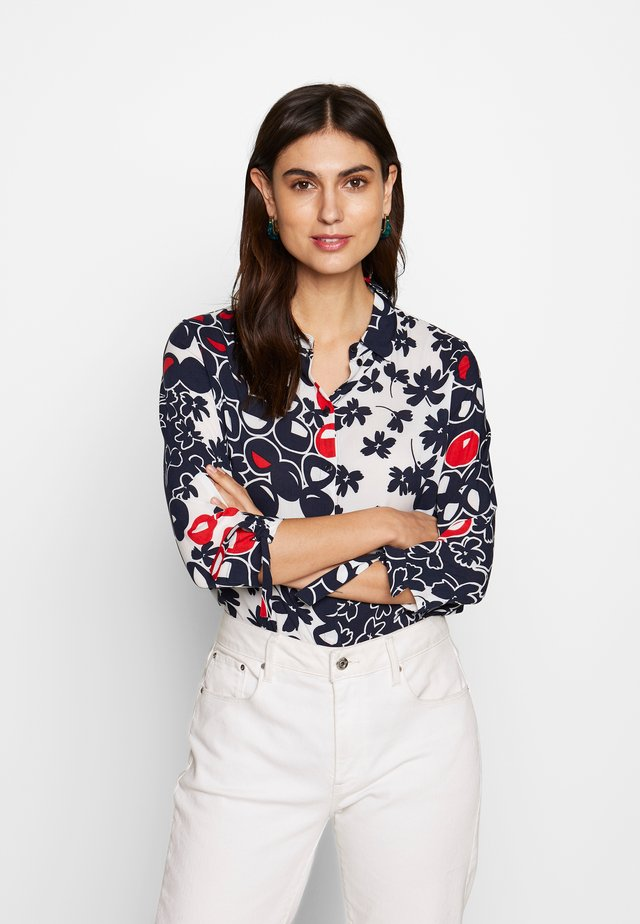 Skjorte - navy/red/offwhite