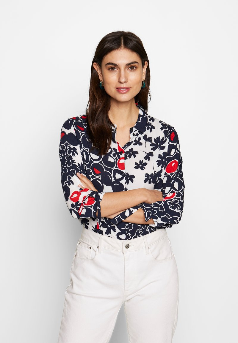 Barbara Lebek - Button-down blouse - navy/red/offwhite