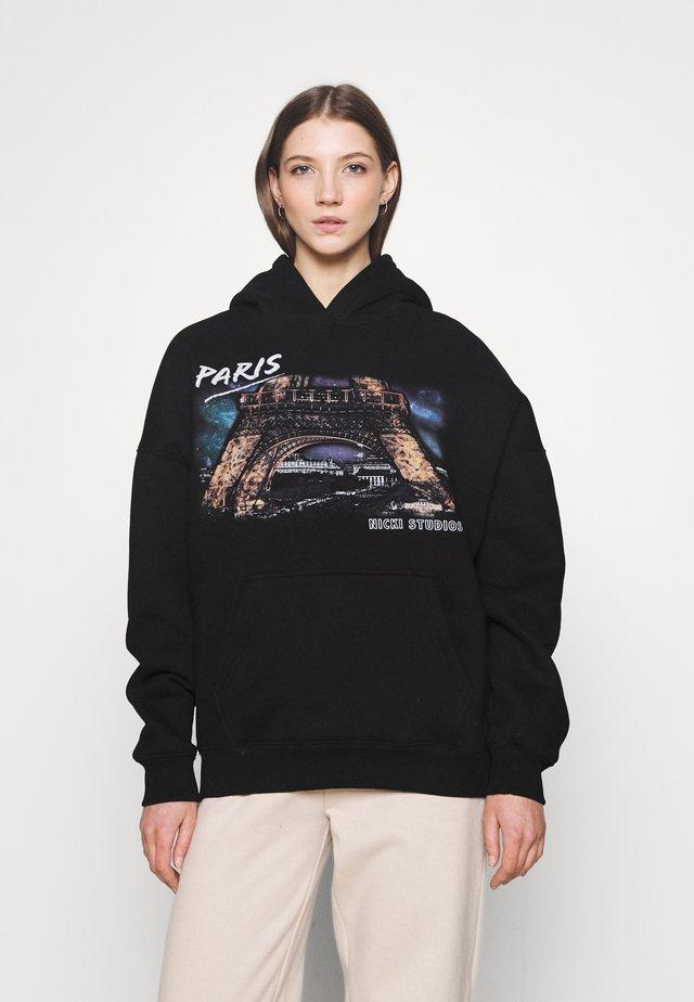 PARIS HOODIE - Sweater - black