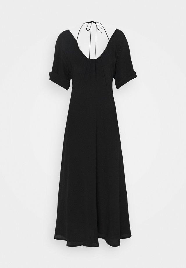 TIE DETAIL SHORT SLEEVE  - Denní šaty - black