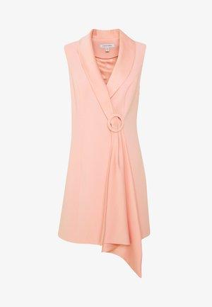 DRAPE TUXEDO DRESS - Etuikjoler - pale pink