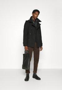 TOM TAILOR DENIM - CABAN - Short coat - black - 1