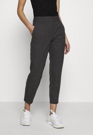 SLFRIA CROPPED PANT - Spodnie materiałowe - dark grey melange