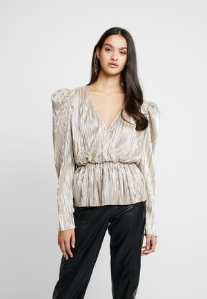 PLEATED WRAP - Blouse - champagne