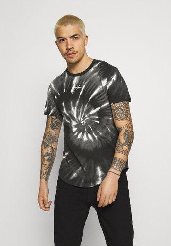 CREW - Print T-shirt - black spiral wash