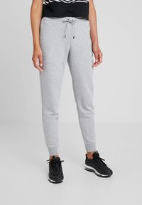 Nike Sportswear - PANT TIGHT - Tracksuit bottoms - dark grey heather/white - 0