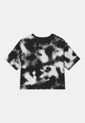 GIRL TIE DYE BOXY - T-shirt z nadrukiem - black