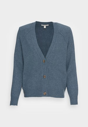 BUTTONED CARDIGAN - Cardigan - grey blue