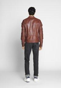 Goosecraft - Veste en cuir - rodeo brown - 2