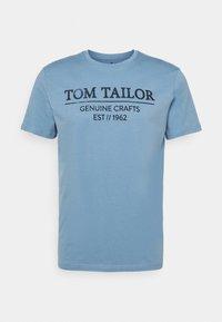 Print T-shirt - bleeched blue