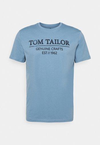 T-shirt med print - bleeched blue