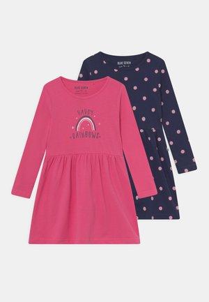 KIDS GIRLS DRESS 2 PACK - Jersey dress - pink/dark blue