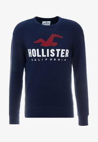 Hollister Co. - TECH LOGO CREW - Mikina - navy - 4