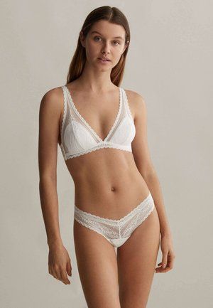 GEOMETRIC  - Thong - white