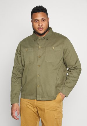 PLUS WORKER JACKET - Summer jacket - khaki