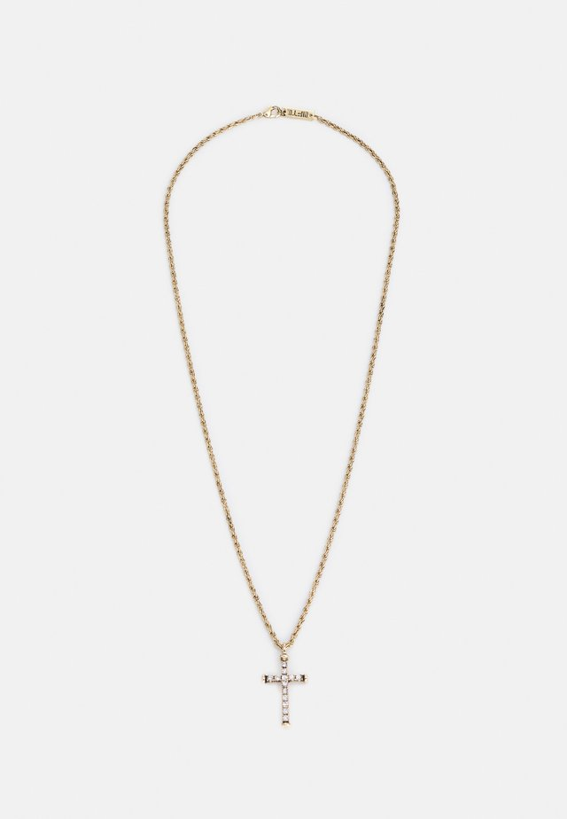 PLAYING WITH FIRE CROSS NECKLACE - Smykke - gold-coloured